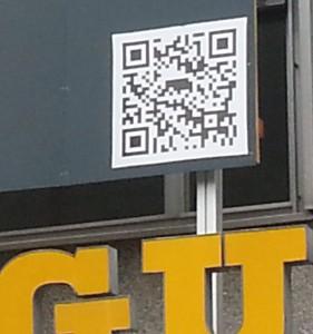 QR code on Werd building Zurich